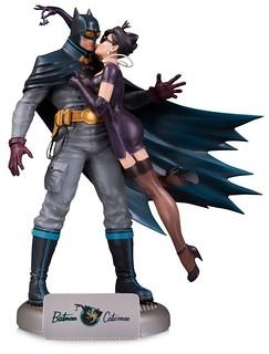 有情人終成眷屬~❤ DC Collectibles DC Bombshells 系列【蝙蝠俠&貓女】Batman & Catwoman 豪華版全身雕像作品