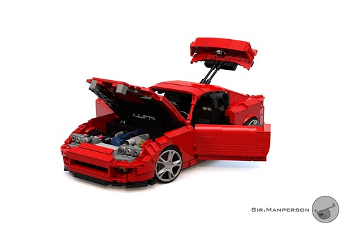 Toyota Supra all open front - 16-wide - Lego