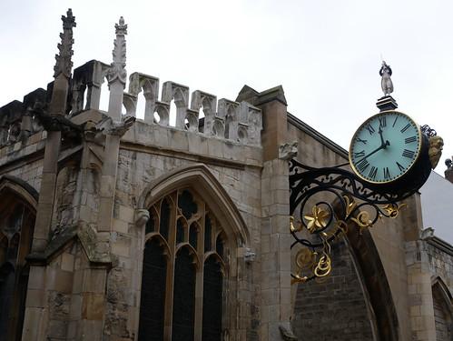 The Clock of St Martin Le Grand Church