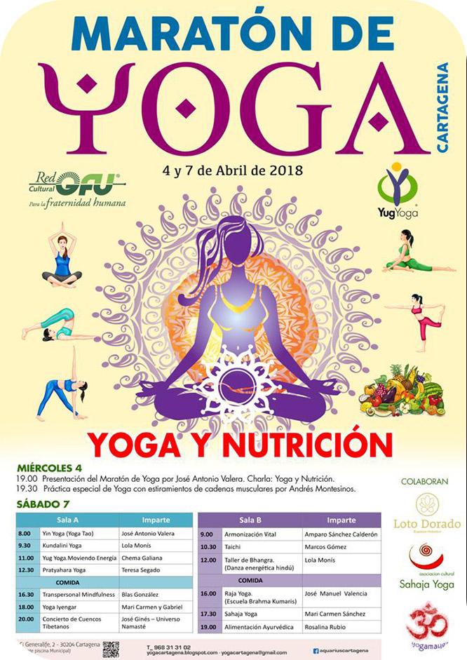 VI Maratón de Yoga en Cartagena