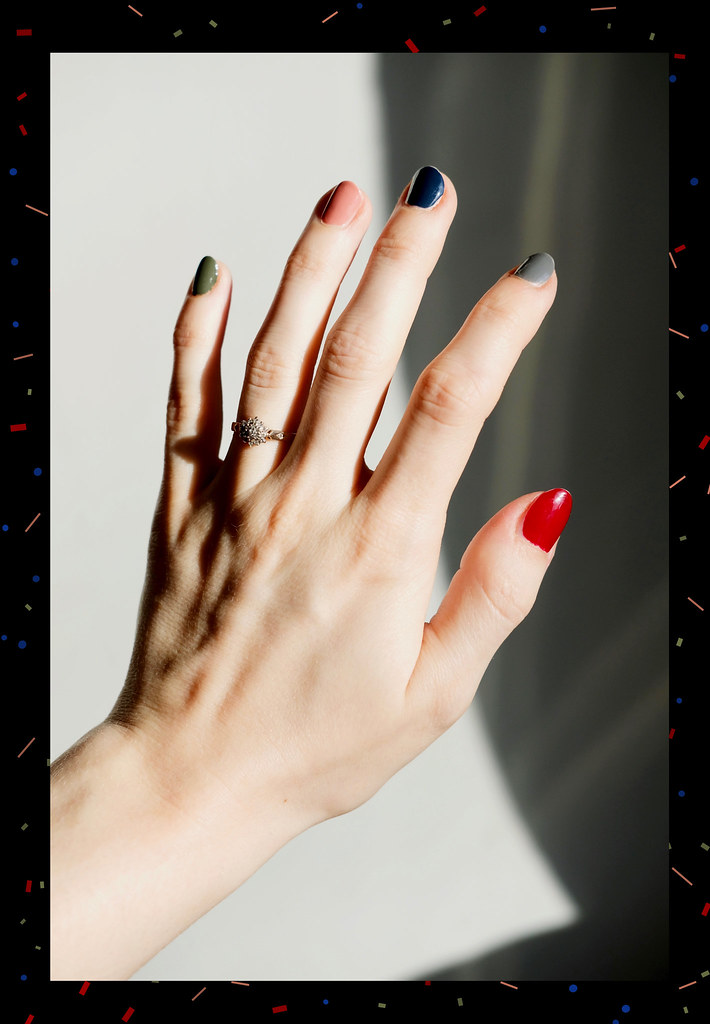 nail art hands polish