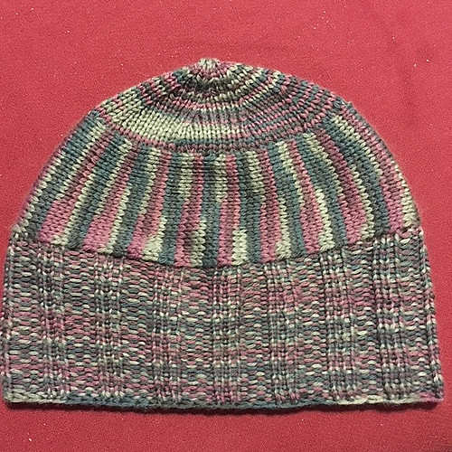 sandima's Antimatter Hat test knit
