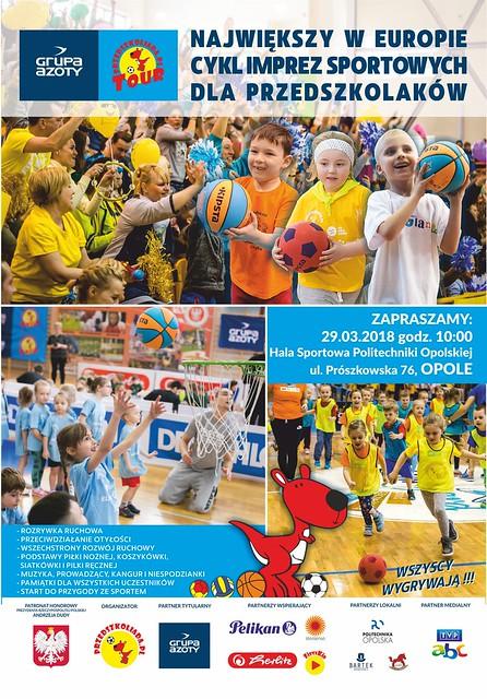 Plakat Grupa Azoty Przedszkoliada Tour 2018 - Opole