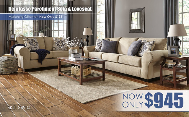 Denitasse Parchment Sofa & Loveseat_84904-38-35-T580