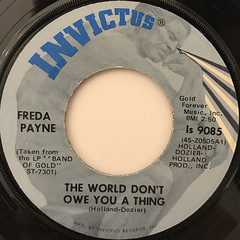 FREDA PAYNE:CHERISH WHAT IS DEAR TO YOU(WHILE IT'S NOT TO YOU)(LABEL SIDE-B)