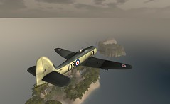 Hawker Sea fury in Flight