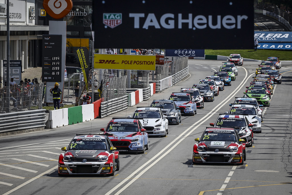 start race 1 during the 2018 FIA WTCR World Touring Car cup of Portugal, Vila Real from june 22 to 24 - Photo Francois Flamand / DPPI