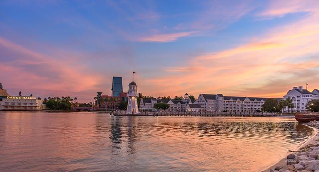 Sunset at Disney's Beach & Yacht Club