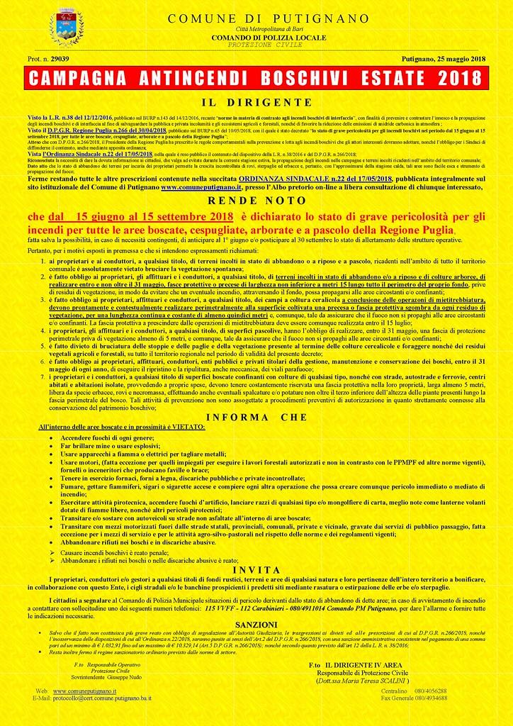 Prot. 29039 del 25.05.2018 - Rende Noto