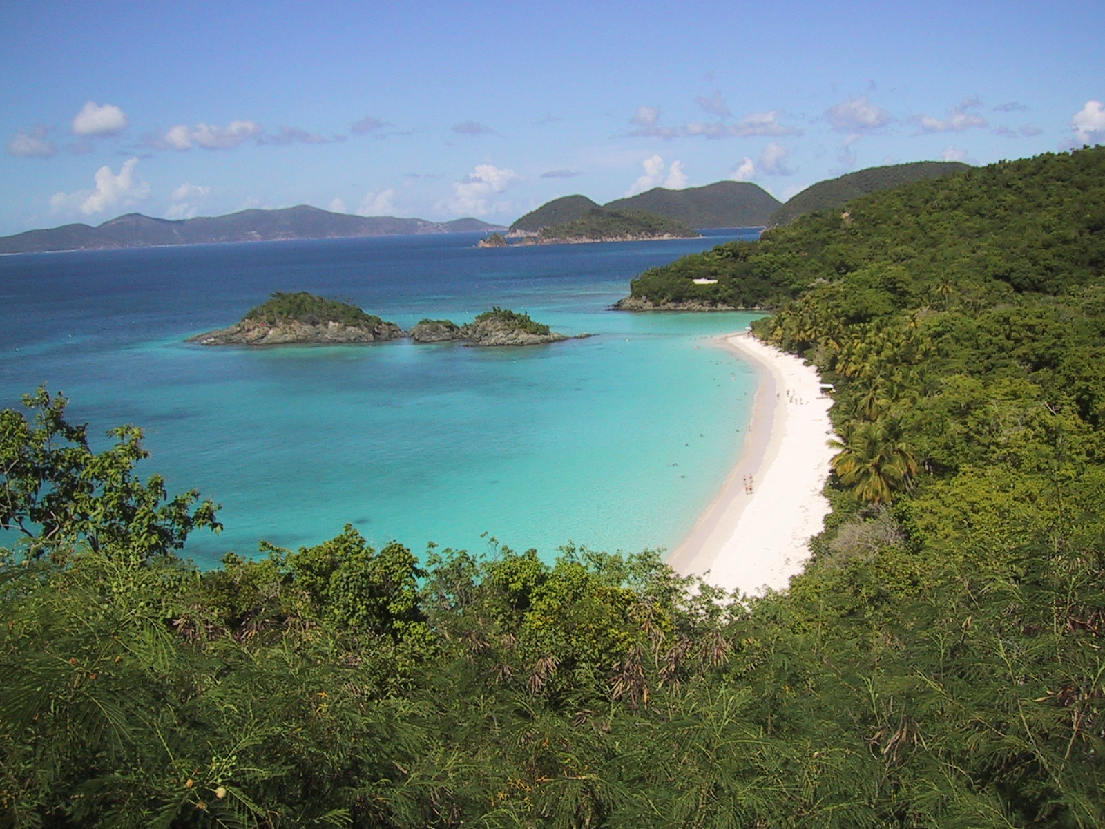 Trunk Bay on St. John island in Virgin Islands National Park, Photo taken on October 20, 2003.