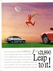 1997 Toyota Corolla CSX Sedan & RV Seca R100 Page 1 Aussie Original Magazine Advertisement
