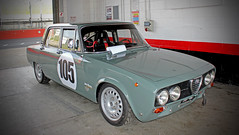 'Well Earned Rest' Alfa Romeo Berlina, Classic Racing Car , Masters Test Day , Brands Hatch, Kent.