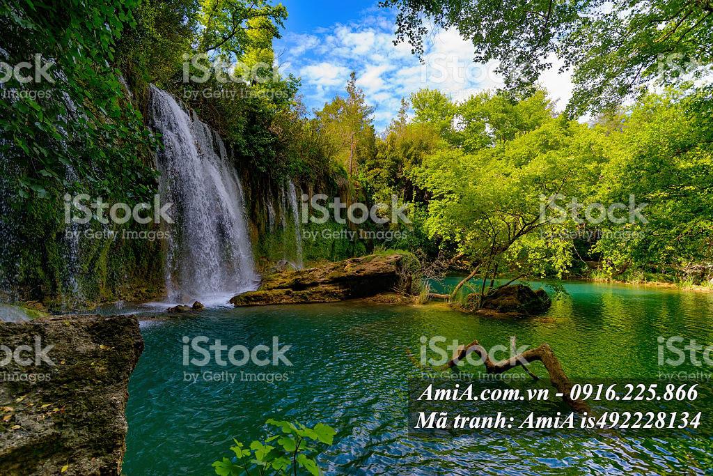 Tranh đẹp phong cảnh thiên nhiên thác nước