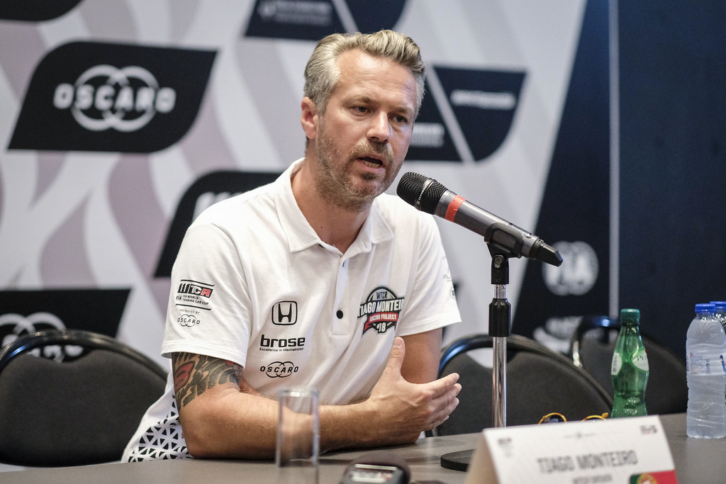 MONTEIRO Tiago (por), Boutsen Ginion Racing, portrait conference de presse press conference during the 2018 FIA WTCR World Touring Car cup of Portugal, Vila Real from june 22 to 24 - Photo Francois Flamand / DPPI