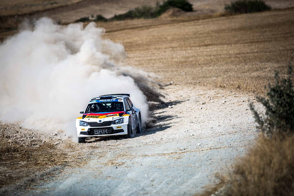 09 ALBERT VON THURN UND TAXIS (DEU), DEGANDT Bjorn (BEL), BRR-BAUMSCHLAGER RALLYE & RACING TEAM, SKODA FA BIA R5, action during the 2018 European Rally Championship ERC Cyprus Rally,  from june 15 to 17 at Larnaca, Cyprus - Photo Thomas Fenetre / DPPI