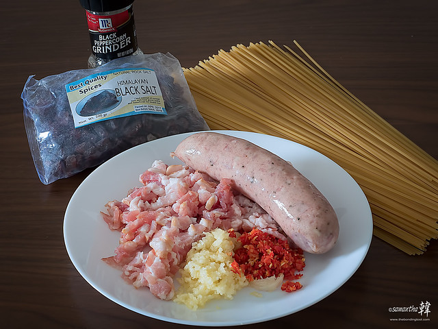 20180617 Spaghetti Alio Olio Smoked Bratwurst _6170056