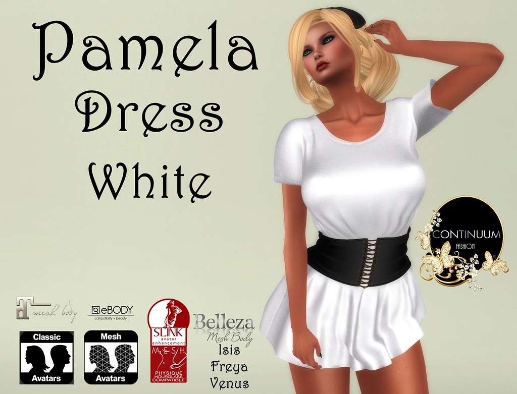 Continuum Pamela Dress White - Special Offer 10 Linden