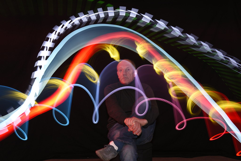Lightpainting am Studio