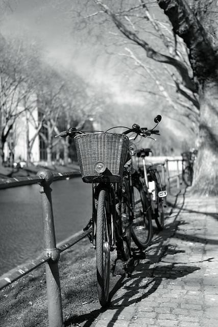 bike with bokeh@Kö, Düsseldorf
