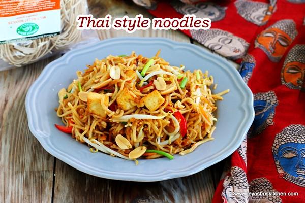 Thai style veg noodles
