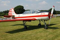G-YAKV Yakovlev Yak-52 (9111311)  Popham 080608 - Now ZK-YIK