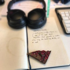 I'm so happy!!!, The best thing that you can find on your Moleskine... a piece of chocolate :)