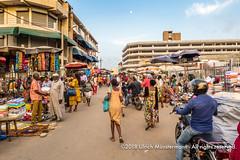 Market street in Lomé, Togo