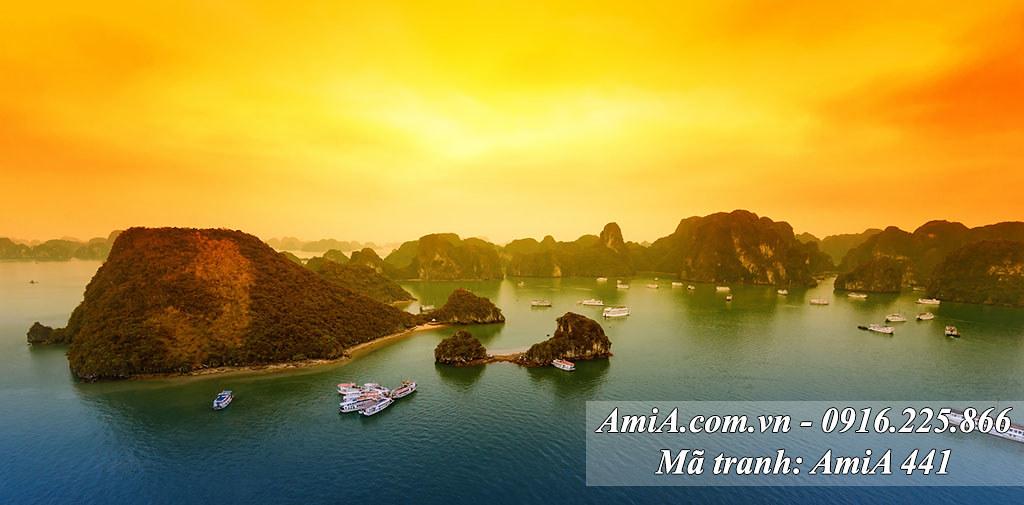 AmiA 441 - Tranh phong cảnh quê Hạ Long một tấm khổ lớn