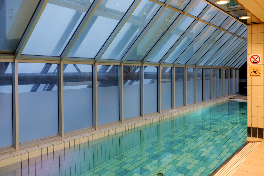 Indoor pool at the top