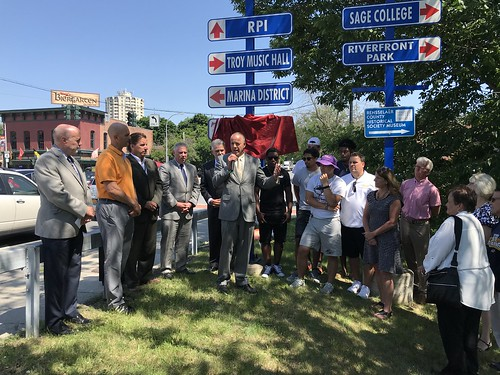 Troy High Flying Horses Street Sign Unveiling 06-22-2018