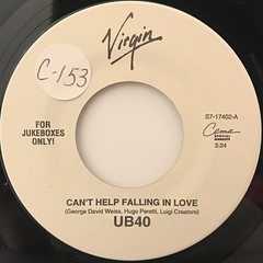 UB40:CAN'T HELP FALLING IN LOVE(LABEL SIDE-A)