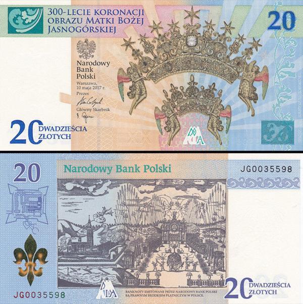 20 Zlotych Poľsko 2017, Częstochowa P191