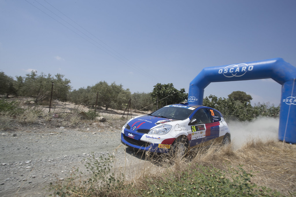 26 MURADIAN Artur (RUS), GORDYUSHKIN Maxim (RUS), TBRACING, RENAUL CLIO R3, action during the 2018 European Rally Championship ERC Cyprus Rally,  from june 15 to 17  at Larnaca, Cyprus - Photo Gregory Lenormand / DPPI