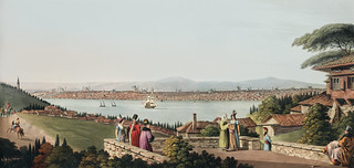 View of Constantinople from Views in the Ottoman Dominions, in Europe, in Asia, and some of the Mediterranean islands (1810) illustrated by Luigi Mayer (1755-1803).
