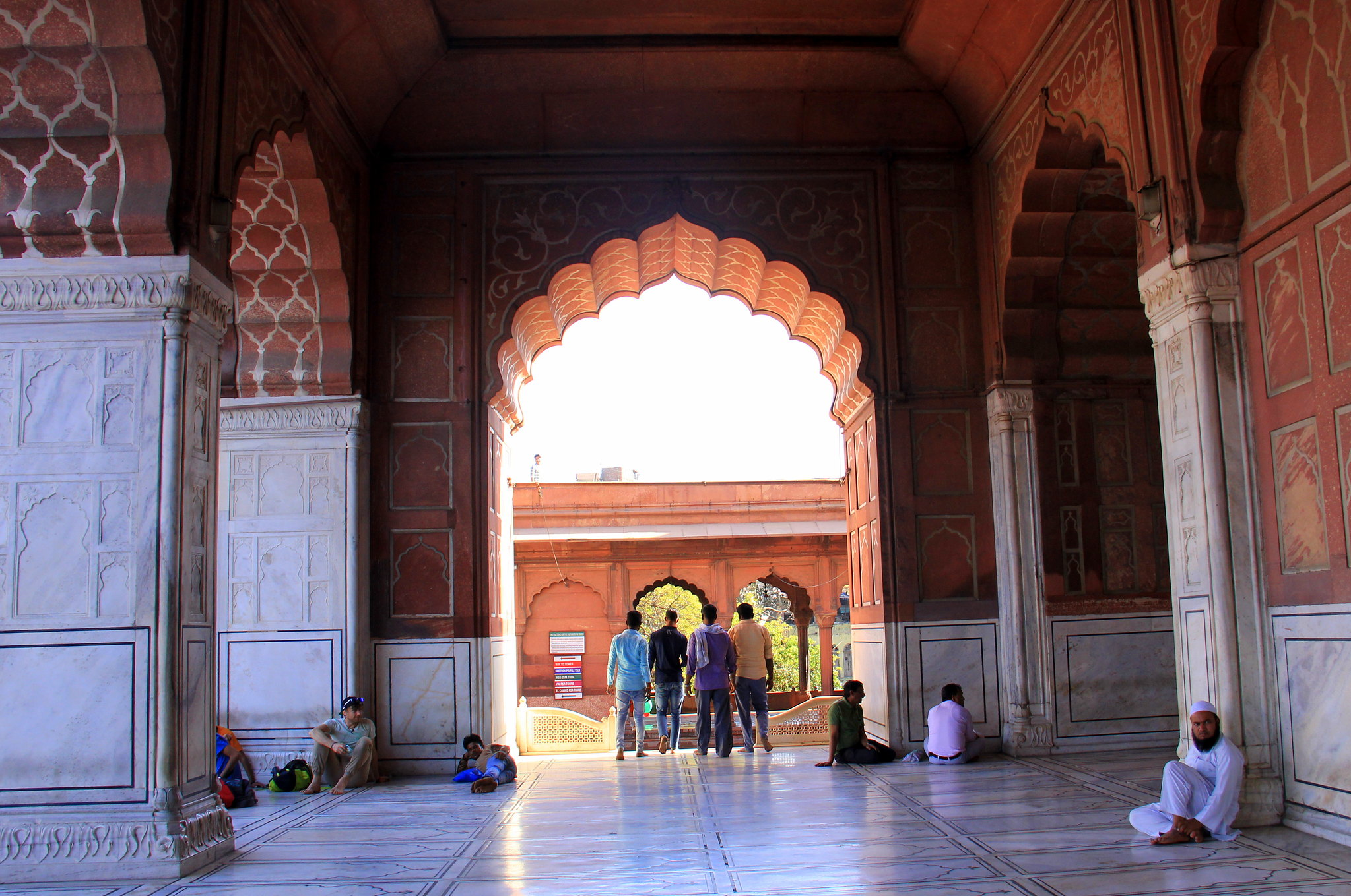 Jama Masjid has beautiful tile work inside