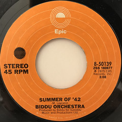 BIDDU ORCHESTRA:SUMMER OF '42(LABEL SIDE-A)