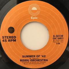 BIDDU ORCHESTRA:SUMMER OF '42(LABEL SIDE-A)