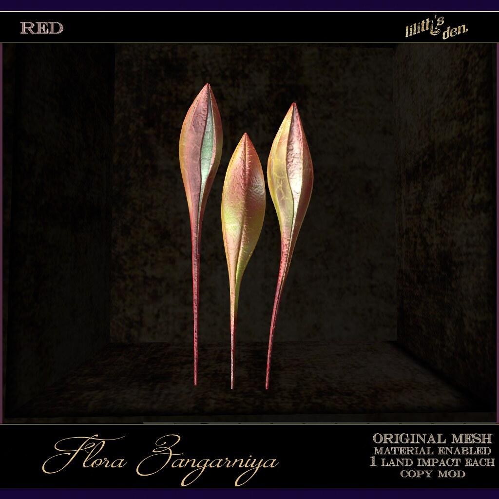 Lilith's Den –  Flora Zangarniya – red