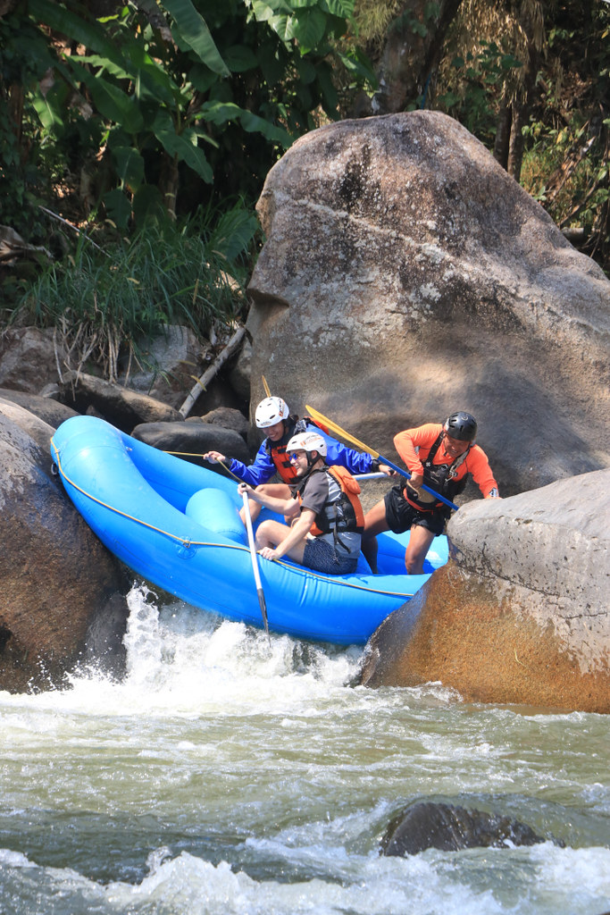 White Water Rafting Stuck