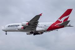 Qantas - Airbus A380-842 VH-OQB @ London Heathrow