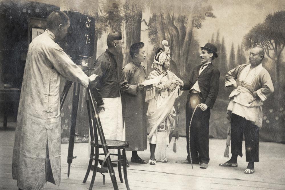 Chinese Opera Actors meet Charlie Chaplin