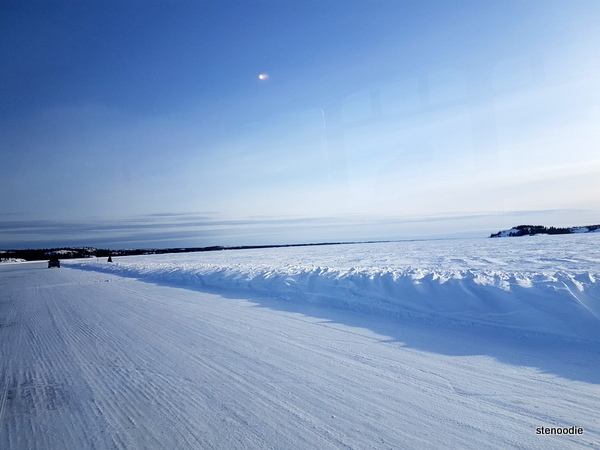 frozen Great Slave Lake