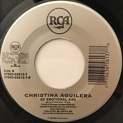 CHRISTINA AGUILERA:GENIE IN A BOTTLE(LABEL SIDE-B)
