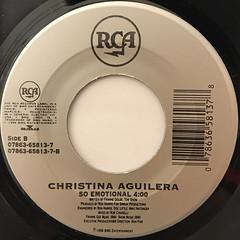 CHRISTINA AGUILERA:GENIE IN A BOTTLE(LABEL SIDE-B)