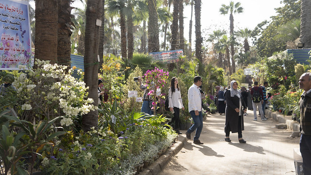 The visitors of Egypt's Spring Flowers Fair