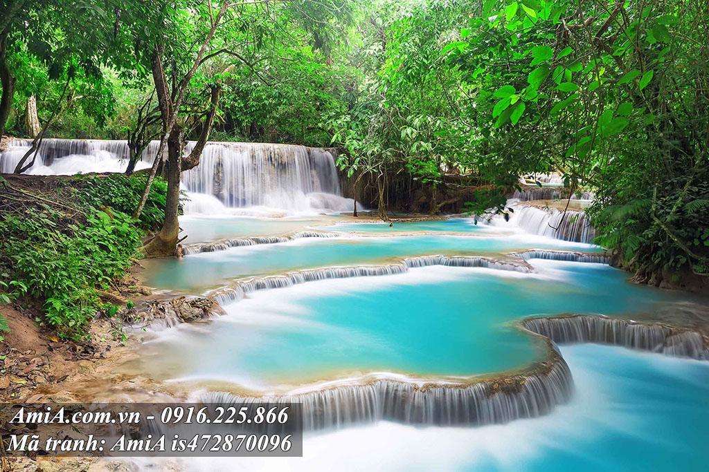 Tranh thác nước thiên nhiên đẹp treo tường phong thủy ý nghĩa