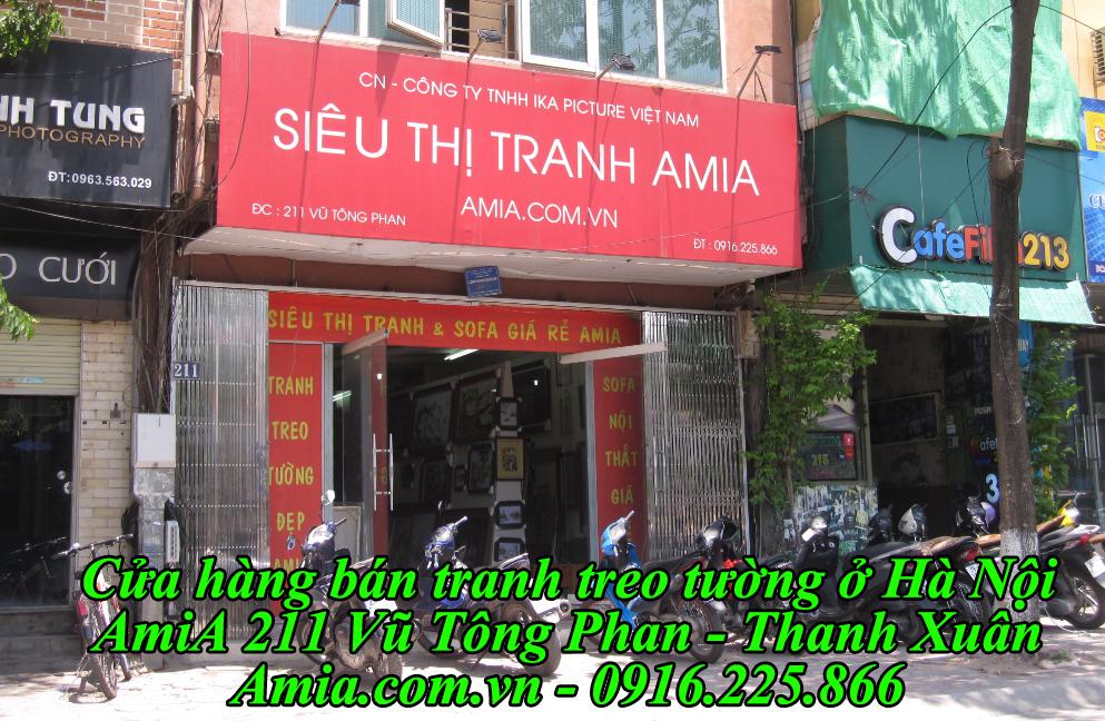 Cửa hàng bán tranh treo tường đẹp nhất Hà Nội AmiA 211 Vũ Tông Phan