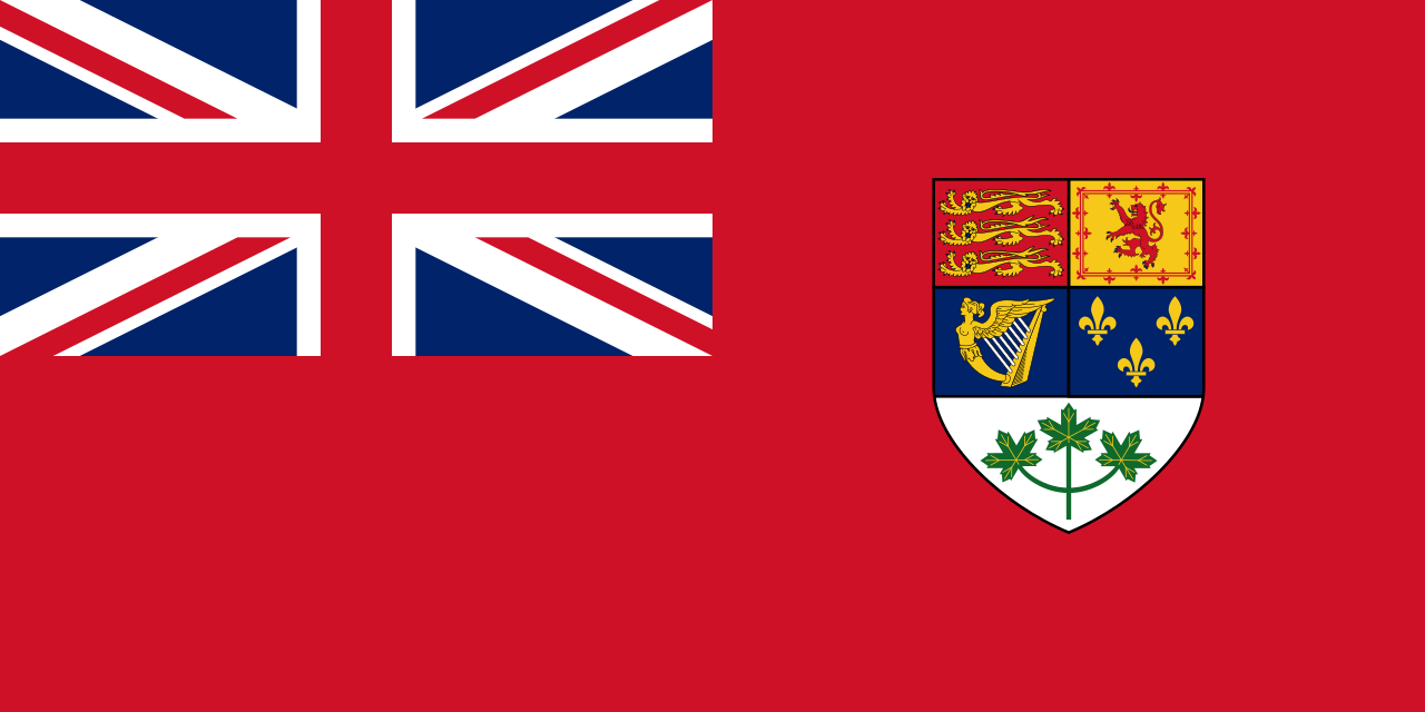 Canadian Red Ensign, used as national flag of Canada 1921-1957
