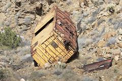 Train Car derailed Carrizo Gorge