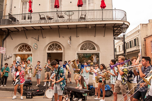 40th Street Jazz Band in town from Phoenix on Day 2 of French Quarter Fest - 4.13.18. Photo by Michael E. McAndrew Photography.